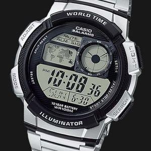 Casio Men's Stylish Digital World Time Watch